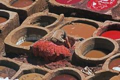 Tannerie en cuir Image stock