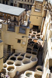 tannerie Fes la Médina, Maroc l'afrique Photo stock
