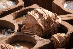 Tanneries of Fes Royalty Free Stock Photos
