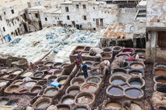 Tanneries of Fes, Morocco Royalty Free Stock Image