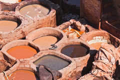 Tanneries, Fes Morocco Royalty Free Stock Images
