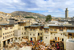 Tanneries of Fes, Morocco, Africa Royalty Free Stock Image