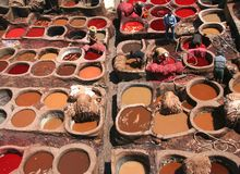 Tanneries in Fess Stock Photography