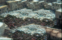 Tanneries, Fez, Morocco Royalty Free Stock Photo