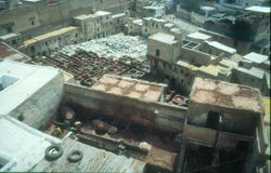 Tanneries, Fez, Morocco Royalty Free Stock Images
