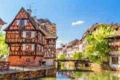 Tanners дома, маленькая район Франции бесплатная иллюстрация