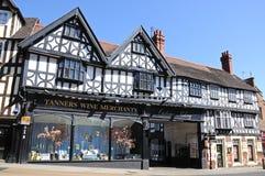 Tanners Wine Merchants, Shrewsbury. Tanners Wine Merchants timber-framed building, Shrewsbury, Shropshire, England, UK, Western Europe Stock Photos