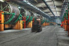 Tannery. The leading factory of russian leahter industry - the Ostashkov tannery (HDR Royalty Free Stock Images