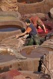Tannery de Chouwara Foto de Stock Royalty Free