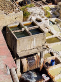 Tannery in Fes, Morocco Royalty Free Stock Image