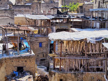 Tannery in Fes, Morocco Royalty Free Stock Photo