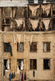 Tannery in Fes. View on tannery in city Fes, Morocco Royalty Free Stock Image