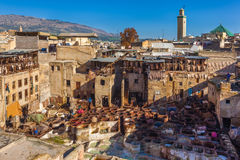 Tannery, Fez Royalty Free Stock Images