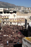 Tannery of Fez, Morocco Stock Photography