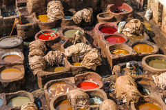 Tannery in Fez, Morocco Stock Photography