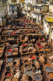 Tannery in Fez, Morocco Stock Photo