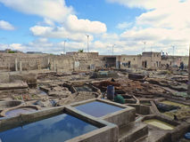 Tannery tanks in Marrakech. Morocco Royalty Free Stock Photo