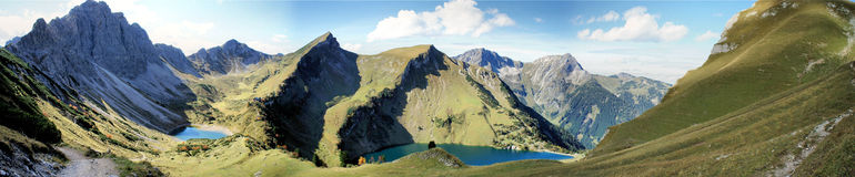 Mountain lakes in the Allgaeu Alps in Tyrol Stock Images