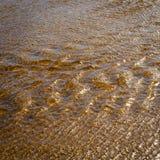 Tannin Water Background. Sunlight on running tannin water ripple background Stock Images