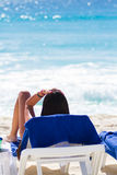 Tanning. On the beach in Mexico Stock Photography