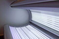 Tanning bed stock photography