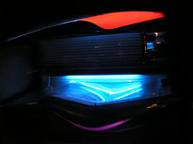 Tanning bed. In the middle of the night Stock Photography