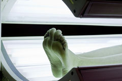 Tanning Bed Feet Royalty Free Stock Image