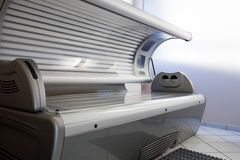 Tanning bed in a salon Royalty Free Stock Photography
