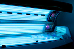Tanning bed solarium Stock Photography