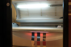 Tanning Bed Solarium At Health Club Spa Royalty Free Stock Images