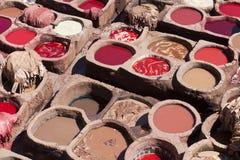 Tanning de couro na África do norte Imagem de Stock