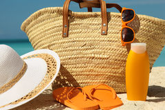 Tanning items Stock Image