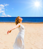 Tanning and relaxing Royalty Free Stock Image