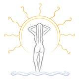 Tanning symbol Stock Image