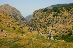 Tannourine Valley, Lebanon. Tannourine is a Maronite town located in North Lebanon, Batroun district. The area is famous for its Cedar Natural Reserve. The royalty free stock image