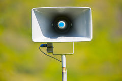 Tannoy announcement loud speaker. Tannoy loud public announcement speaker system Royalty Free Stock Image