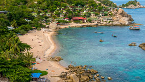Tanote Bay with Beautiffull Coral Reef, Koh Tao, Thailand.  Stock Image