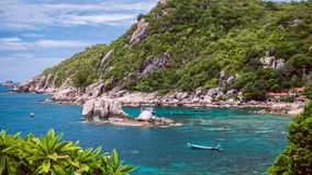 Tanote Bay with Beautiffull Coral Reef, Koh Tao, Thailand.  Royalty Free Stock Image