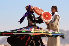 Tanoura egyptian folk dance Stock Image