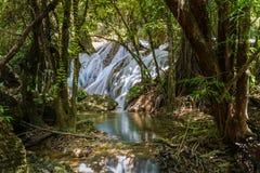 Tanpliw waterfall Thung Wa, Satun, Thailand , Soft focus Stock Photos