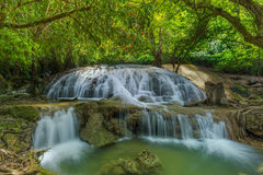 Tanpliw waterfall Thung Wa, Satun, Thailand , Soft focus Royalty Free Stock Photography
