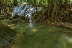 Tanpliw waterfall Thung Wa, Satun, Thailand , Soft focus Stock Images