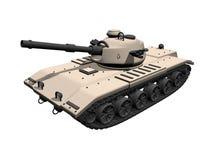 tanque 3D tan em um fundo branco ilustração do vetor