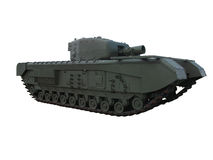Tanque britânico de WW2 Churchill AVRE isolado no branco Imagens de Stock