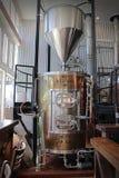 Tanque da cervejaria Fotografia de Stock