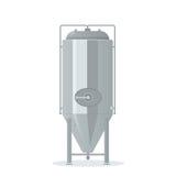 Tanque da cervejaria dos desenhos animados ilustração do vetor