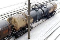 Tanque da estrada de ferro do petróleo foto de stock royalty free