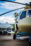 Tanque da técnica do helicóptero