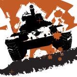 Tanque das forças armadas de Grunge Fotografia de Stock Royalty Free