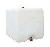 Tanque de água branca Foto de Stock Royalty Free
